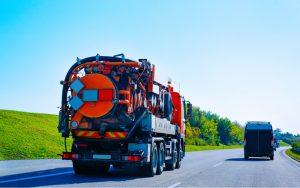 waste vacuum truck in Elgin, Illinois