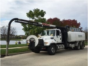 Commercial sewer line jetting and cleaning in Elk Grove Village, Illinois