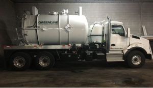 Commercial vacuum truck in South Bend, Indiana