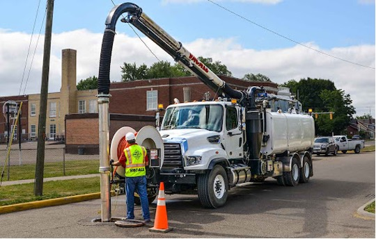 Hydro jetting services in Chicago Heights, Illinois